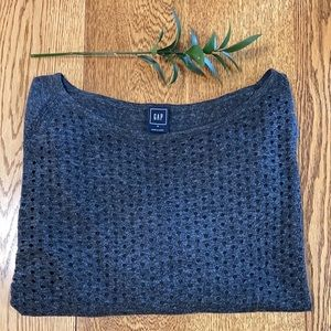 Gap Charcoal 3/4 Sleeve Spring Sweater